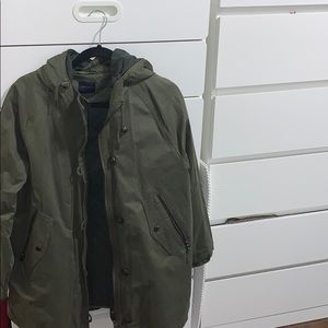 Zara Military Green Coat